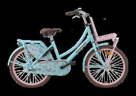 Popal Daily Dutch Basic+ Meisjesfiets 22 inch 3V - Turquoise / Roze