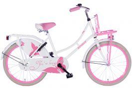 Spirit Omafiets 22 inch - Wit Roze