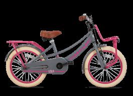 SuperSuper Lola Meisjesfiets 18 inch - Grijs/Roze