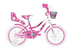 Volare Lovely Kinderfiets - Meisjes - 16 inch - Roze Wit - 95% afgemonteerd