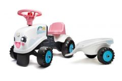 Falk Baby Rainbow Farm Ride-On - Meisjes - Wit Roze - Tractor