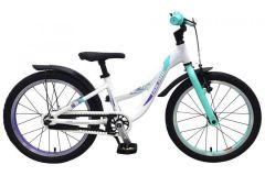 Volare Glamour Kinderfiets - Meisjes - 18 inch - Parelmoer Mint Groen - Prime Collection