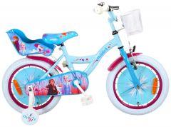 Disney Frozen 2 - Kinderfiets - Meisjes - 16 inch - Blauw/Paars - 95% afgemonteerd