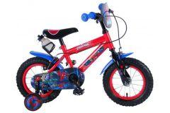 Ultimate Spider-Man Kinderfiets - Jongens - 12 inch - Blauw/Rood - 2 handremmen