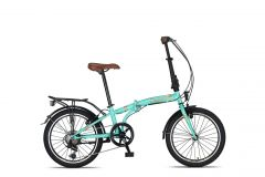 Umit Cunda Vouwfiets 20inch 6-speed Turquoise nieuw