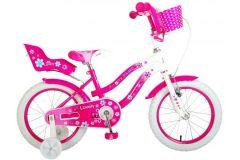 Volare Lovely Kinderfiets - Meisjes - 16 inch - Roze Wit