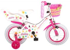 Volare Ashley Kinderfiets - Meisjes - 12 inch - Wit - 2 handremmen