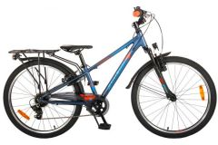 Volare Cross Kinderfiets - Jongens - 24 inch - Donkerblauw - 6 versnellingen - Prime Collection