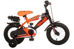 Volare Sportivo Kinderfiets - Jongens - 12 inch - Neon Oranje Zwart - 95% afgemonteerd