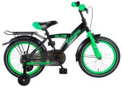 Volare Thombike Kinderfiets - Jongens - 16 inch - Satijn Zwart Groen - 95% afgemonteerd