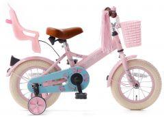 SuperSuper Little Miss Meisjesfiets 12 inch - Roze