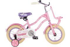 Spirit Meisjesfiets Flora 12 inch - Paars Roze