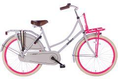 Spirit Omafiets 24 inch - Grijs Roze