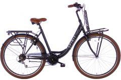 Spirit Regular Plus Damesfiets 7-Speed 28 inch - Mat Zwart