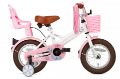 SuperSuper Little Miss Meisjesfiets 12 inch - Wit