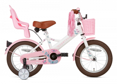 SuperSuper Little Miss Meisjesfiets 14 inch - Wit