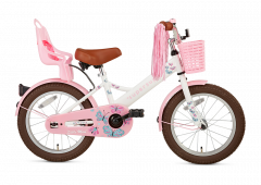 SuperSuper Little Miss Meisjesfiets 16 inch - Wit