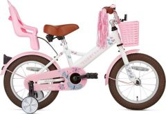 SuperSuper meisjesfiets little miss 14 inch wit
