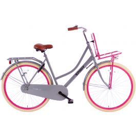 Spirit Omafiets Plus 28 inch - Grijs Roze