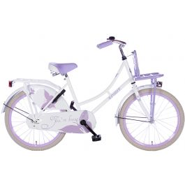 Spirit Omafiets 20 inch - Wit Paars