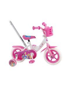 Disney Princess 10 inch meisjesfiets - Wit Roze
