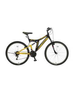 Umit Blackmount 26 inch MTB - Zwart / Geel