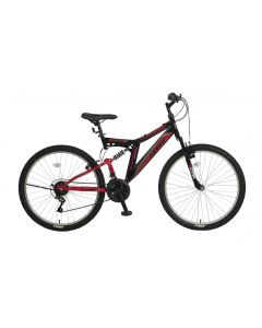 Umit Blackmount 26 inch MTB - Rood / Zwart