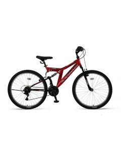 Umit Blackmount 26 inch MTB - Zwart / Rood