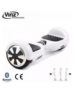 Vinz Hoverboard incl. Bluetooth Boxen & LED 6,5 Inch - Wit