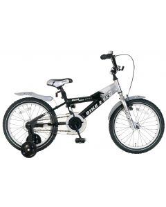 Popal Bike 2 Fly Jongensfiets 18 inch - Zilver/Zwart