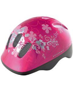 Kinderhelm - Roze Bloem