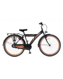 Popal Funjet Jongensfiets 26 inch N3 - Mat Zwart / Oranje