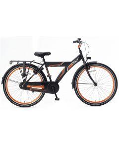 Popal Funjet X Jongensfiets 26 inch - Mat Zwart / Oranje