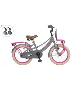 Popal Meisjesfiets Lola 16 inch - Grijs Roze