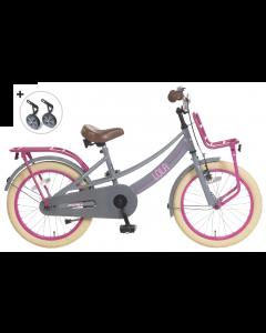 Popal Meisjesfiets Lola 18 inch - Grijs Roze