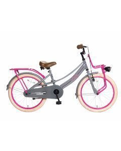 Popal Meisjesfiets Lola 20 inch - Grijs Roze