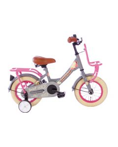 Spirit Daisy Meisjesfiets 12 inch - Grijs Roze