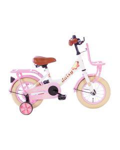 Spirit Daisy Meisjesfiets 12 inch - Wit Roze