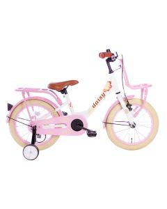 Spirit Daisy Meisjesfiets 16 inch - Wit Roze