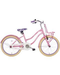 Spirit Meisjesfiets Flora 18 inch - Roze / Paars