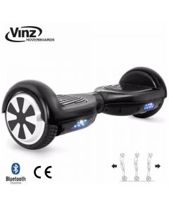 Vinz Hoverboard incl. Bluetooth Boxen & LED 6,5 Inch - Mat Zwart