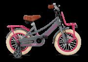 SuperSuper Lola 14 inch Meisjesfiets - Grijs/Roze