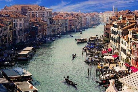 Fietsend naar Venetië