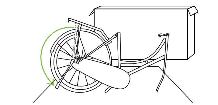 Plaats het frame - Popal fiets in elkaar zetten