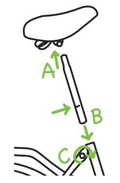 Zadel - Popal fiets in elkaar zetten