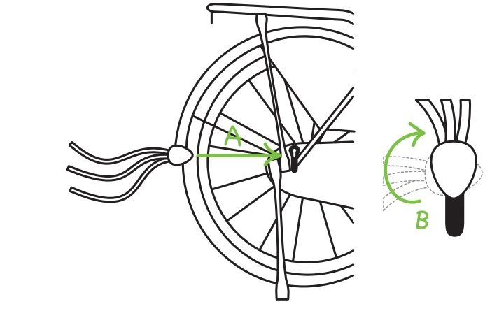 Snelbinders - Popal fiets in elkaar zetten